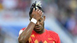 벨기에-잉글랜드 경기서 역대급 '몸개그' 장면이