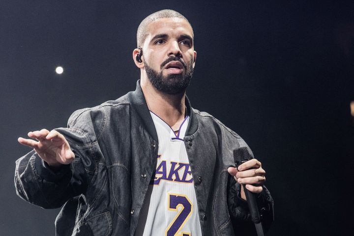 Drake pictured in concert at The Forum in 2016.