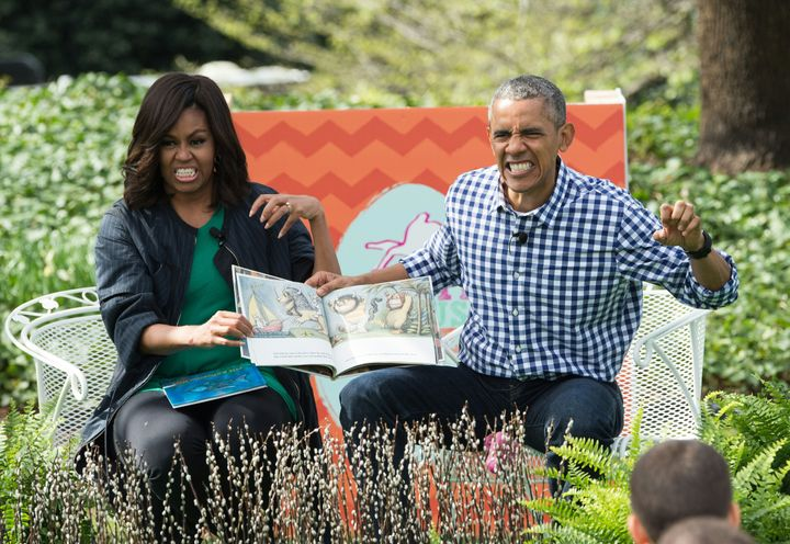In 2016, President Barack Obama and first lady Michelle Obama delighted the internet with photos of them reading<i>&nbsp;Where the Wild Things Are</i>&nbsp;at the annual Easter Egg Roll.&nbsp;