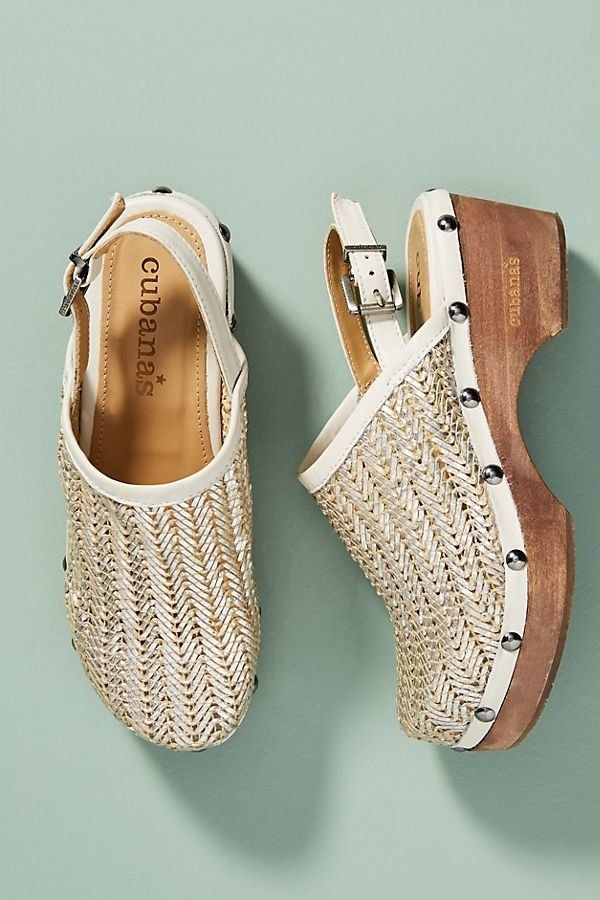 "Get them <a href=""https://www.anthropologie.com/shop/cubanas-lucky-slingback-mules?category=shoes-platforms-wedges&color="