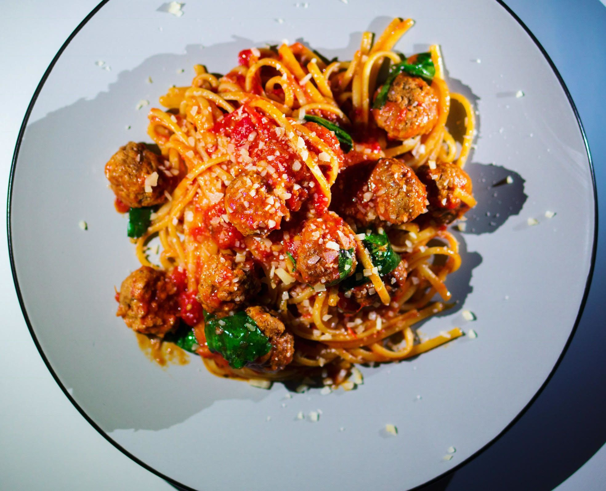 Despite what everyone says, spaghetti and meatballs have existednot only in theU.S.but also inItaly&r