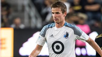 LOS ANGELES, CA - MAY 9: Collin Martin #17 of Minnesota United during Los Angeles FC's MLS match against Minnesota United at the Banc of California Stadium on May 9, 2018 in Los Angeles, California.  Los Angeles FC won the match 2-0  (Photo by Shaun Clark/Getty Images)
