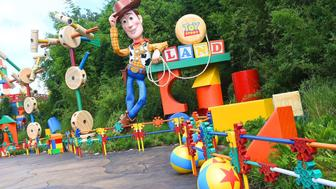 ORLANDO, FL - JUNE 28:  General view of 'The Toy Story Land' at Disney's Hollywood Studios on June 28, 2018 in Orlando, Florida.  (Photo by Gerardo Mora/Getty Images)