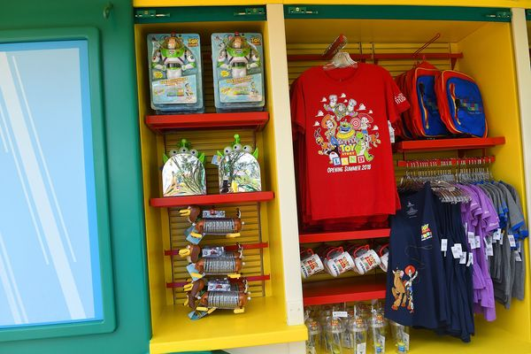 And of course, there's plenty of Disney merchandise available.