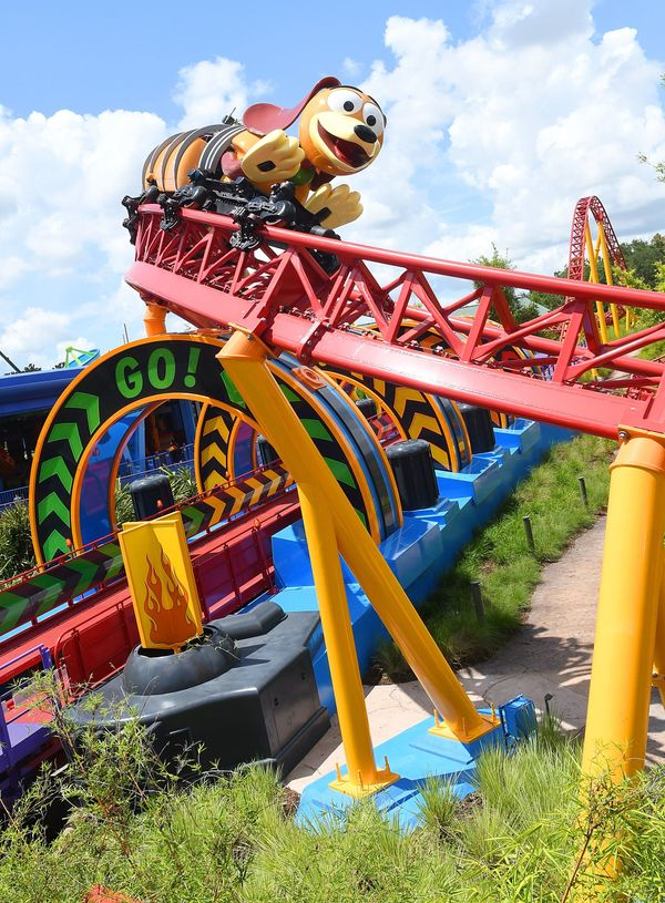 The park area includes a roller-coaster named Slinky Dog Dash inspired by one of the funny characters.