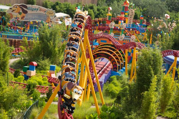 The coaster is one of many rides within the 11-acre toy-filled land.