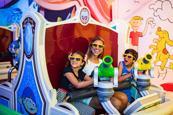 Toy Story Mania is an attraction that allows fans to shoot at moving targets.