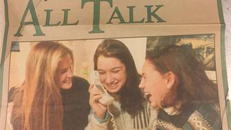 The author and two friends on the cover of The Capitals Family Living section