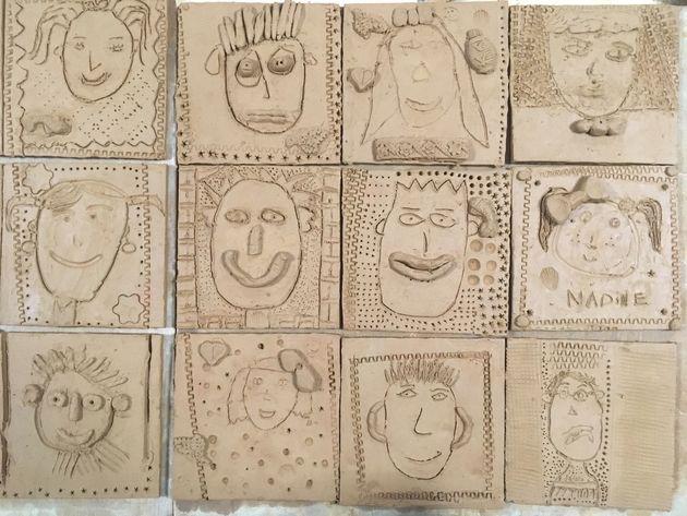 Les œuvres réalisées par les enfants des deux