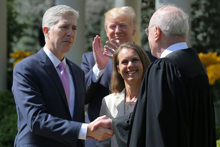 Trump's nomination of Neil Gorsuch to the Supreme Court spot stolen from Barack Obama by Senate Majority Leader Mi