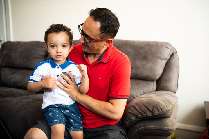 Waddah Aldailamiwonders how he could take his children to a country wracked by war.