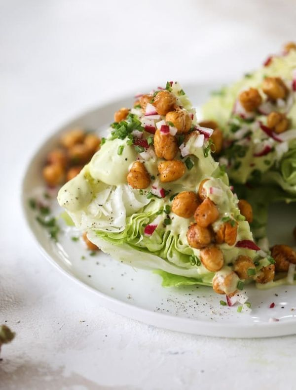 "<strong>Get the <a href=""https://www.howsweeteats.com/2018/06/chickpea-wedge-salads/"" target=""_blank"">Crispy Chickpea We"