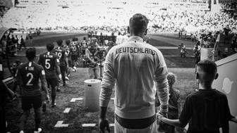 KAZAN, RUSSIA - JUNE 27: (Editor's note this image has been digitally processed) Mesut Ozil of Germany walks out of the tunnel before the 2018 FIFA World Cup Russia group F match between Korea Republic and Germany at Kazan Arena on June 27, 2018 in Kazan, Russia.  (Photo by Michael Regan - FIFA/FIFA via Getty Images)