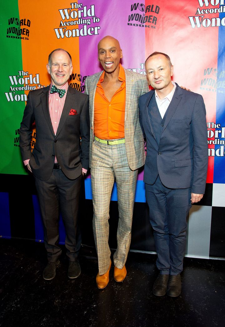 (from left) Barbato, RuPaul Charles and Bailey, the forces behind the violence.
