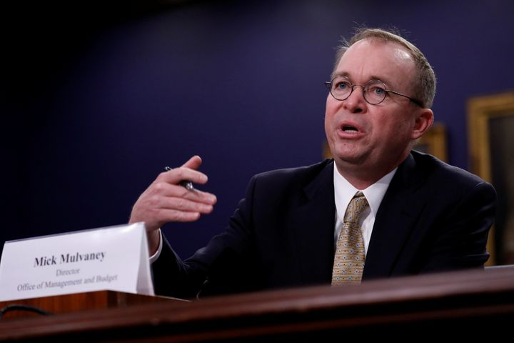 Office of Management and Budget Director Mick Mulvaney testifies before the House Appropriations subcommittee on Capitol Hill