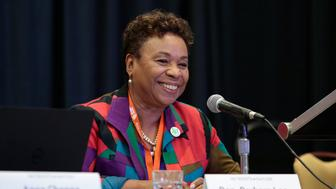 """Rep. Barbara Lee speaks during the """"Progressive While Black"""" breakout session at the Netroots Nation annual conference for political progressives in Atlanta, Georgia, U.S. August 10, 2017. REUTERS/Chris Aluka Berry"""