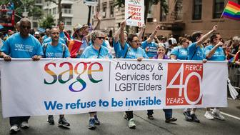 SAGE marches at the New York City Pride parade