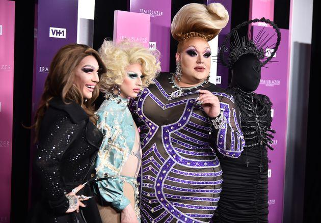 Kameron Michaels, Aquaria, Eureka O'Hara and Asia O'Hara pose together at the VH1 Trailblazer Honors...