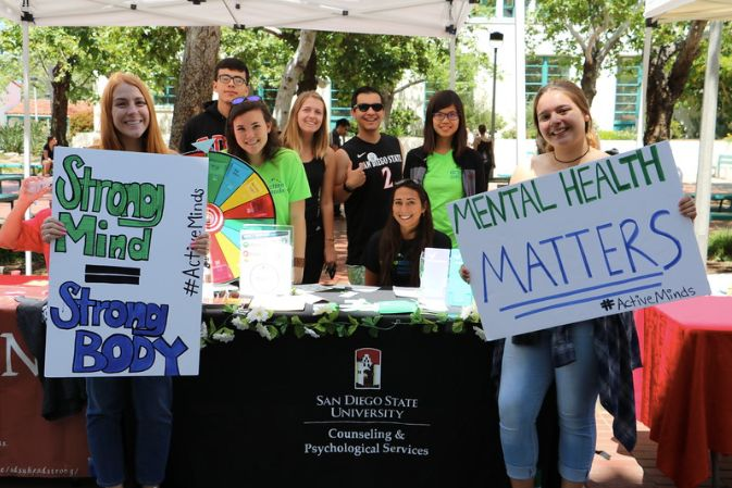 Active Minds event at San Diego State University.