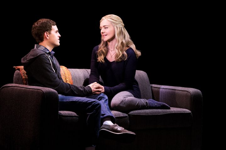 Taylor Trensch and Rachel Bay Jones in Dear Evan Hansen.