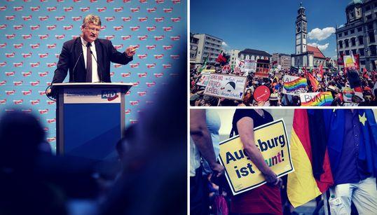 AfD-Parteitag: Augsburg zeigt, wie gespalten Deutschland
