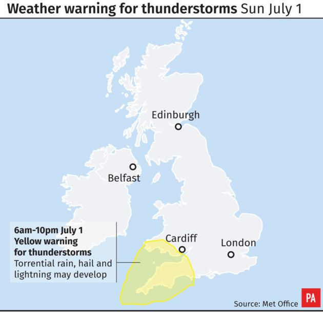 Weather warning for