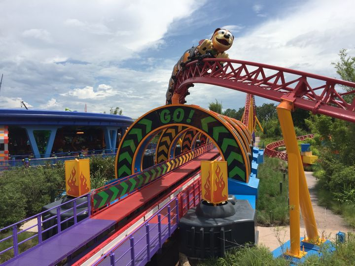 Disney's New Slinky Dog Dash Roller Coaster Gives You A Toy's-Eye View Of Andy's Backyard