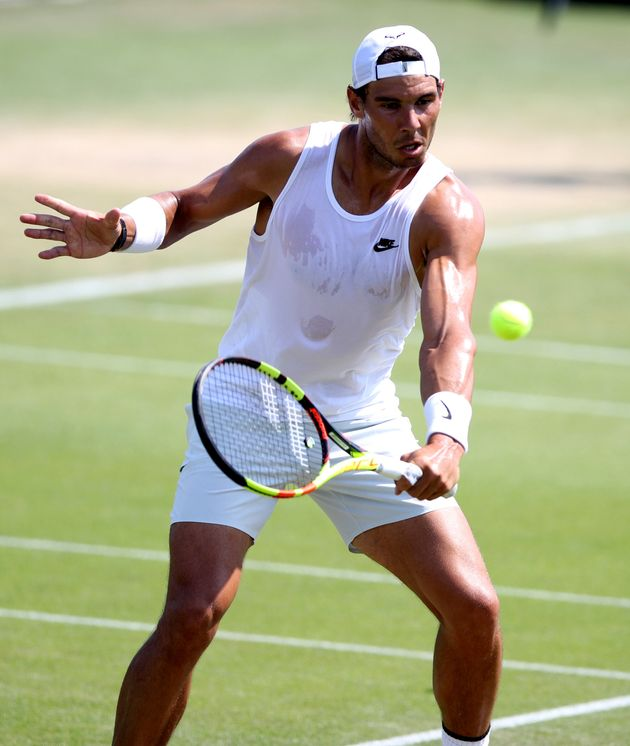 Rafael Nadal, seen above practising ahead of the 2018 Wimbledon Championships, has raised questions about...