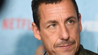 Adam Sandler attends the World Premiere of the Netflix film 'The Week Of' at AMC Loews Lincoln Square 13 on April 23, 2018 in New York City. (Photo by ANGELA WEISS / AFP)        (Photo credit should read ANGELA WEISS/AFP/Getty Images)