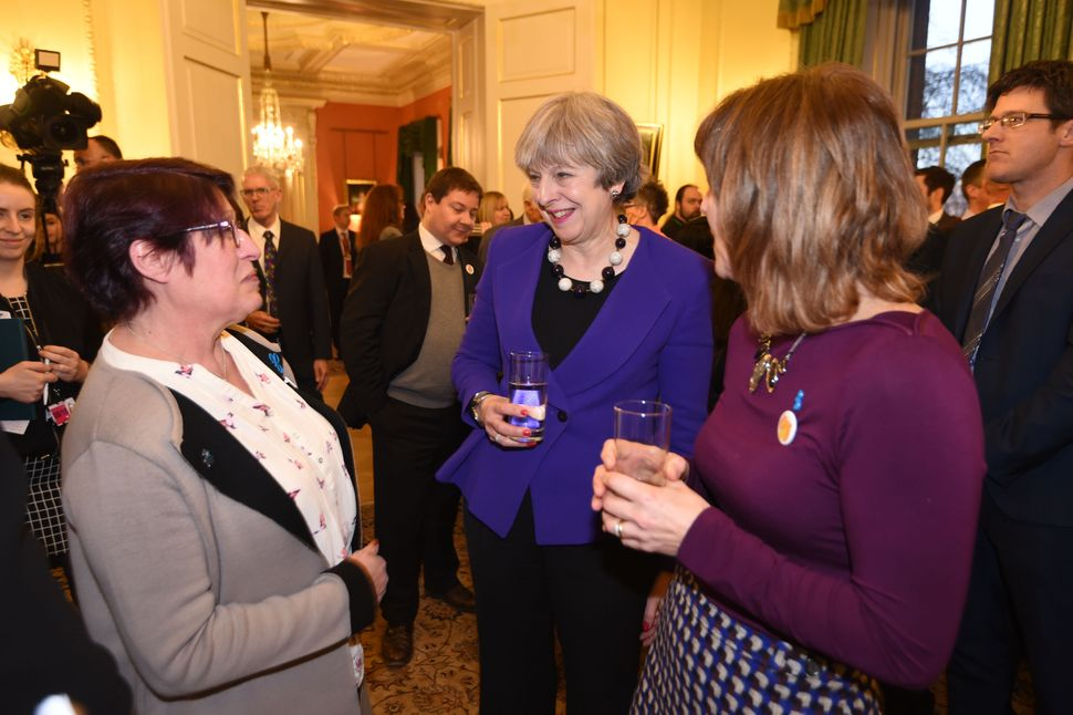 UK Prime Minister Theresa Mayat a reception for the Jo Cox Loneliness Commission