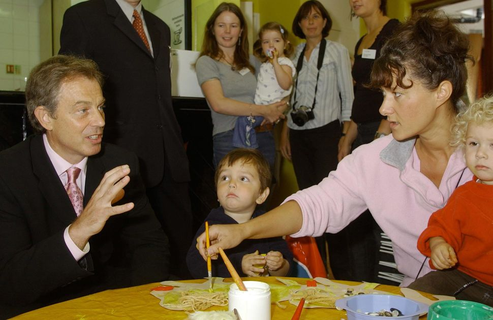 Tony Blair launches the first SureStart Children's Centre in London the 1990s
