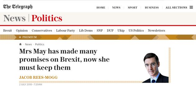 Jacob Rees-Mogg writing in The Telegraph on