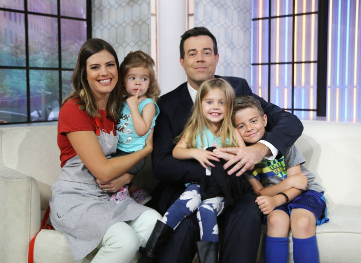 Siri and Carson Daly with their children. She wrote a tribute to her minivan, and parents will totally get it.