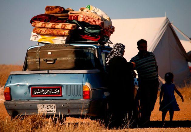 Des déplacés syriens à Daraa, le 1er juillet