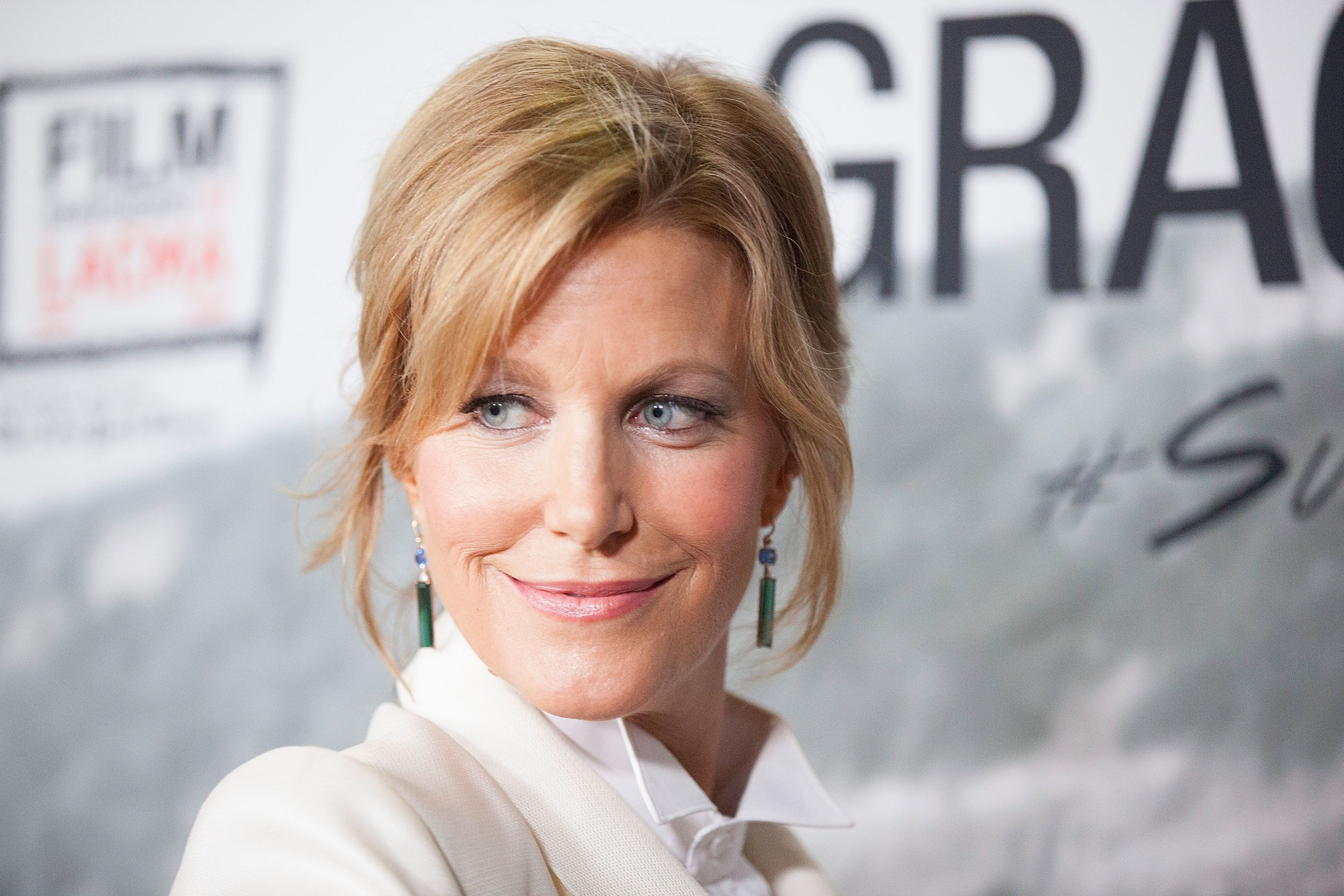 LOS ANGELES, CA - SEPTEMBER 30:  Anna Gunn arrives for the Film Independent Screening Series Of 'Gracepoint' at Bing Theatre At LACMA on September 30, 2014 in Los Angeles, California.  (Photo by Gabriel Olsen/FilmMagic)