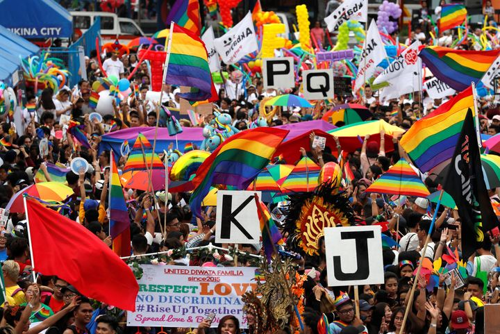 Between 20,000 and 25,000 people reportedly attended the annual Pride march in Marikina, the Philippines.