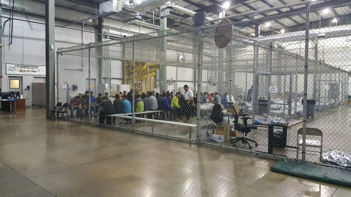 The Central Processing Center in McAllen, Texas, where migrants are detained after being caught illegally crossing