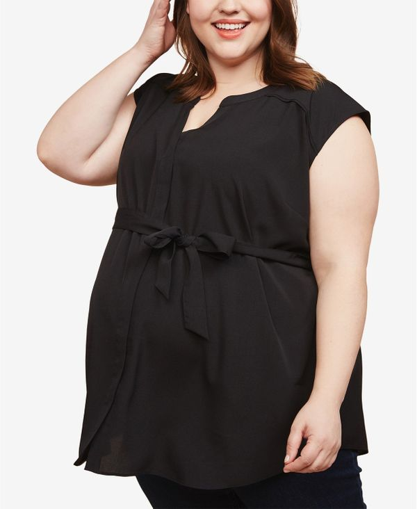 "<strong>Sizes</strong>: 1X to 3X<br>Shop <a href=""https://www.macys.com/shop/womens-clothing/plus-size-maternity?id=132942"" t"