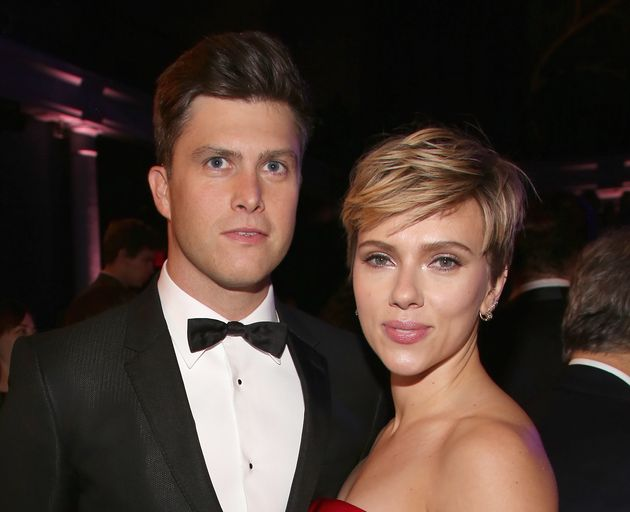 Colin Jost and Scarlett Johansson attend The 2017 Museum Gala at American Museum of Natural