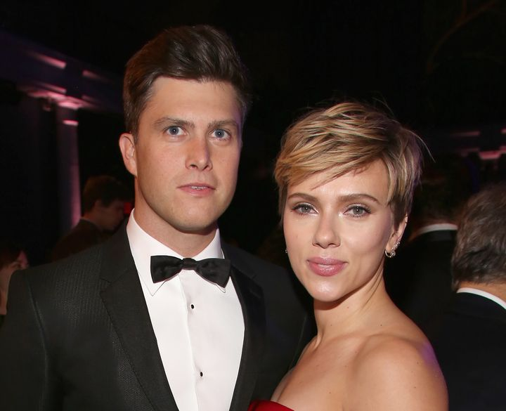 Colin Jost and Scarlett Johansson attend The 2017 Museum Gala at American Museum of Natural History.