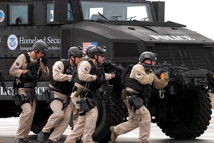 Immigration and Customs Enforcement agents take part in a training exercise, 2011.