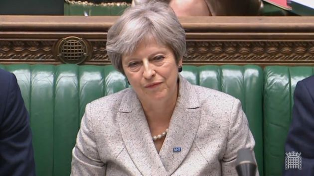 Prime Minister Theresa May listens to Labour leader Jeremy Corbyn in the House of Commons.