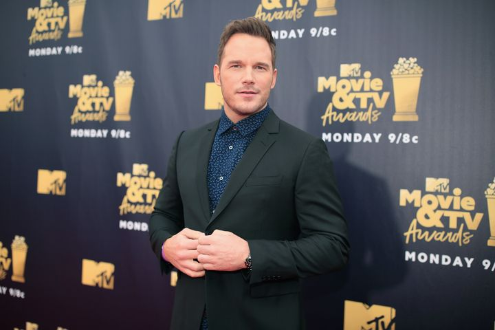 Chris Pratt attends the 2018 MTV Movie And TV Awards.