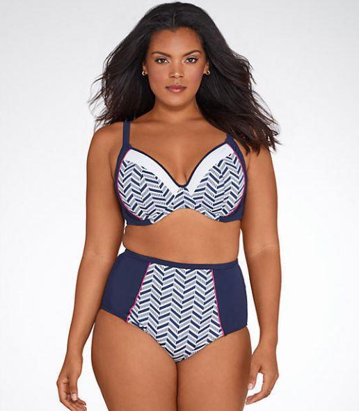 1cff4a51a9d1d ... Tommy Bahama Pearl Underwire Halter Bikini Top. 17. Elomi Plus Size  Chevron Multi-Way Bikini Top. Bare Necessities