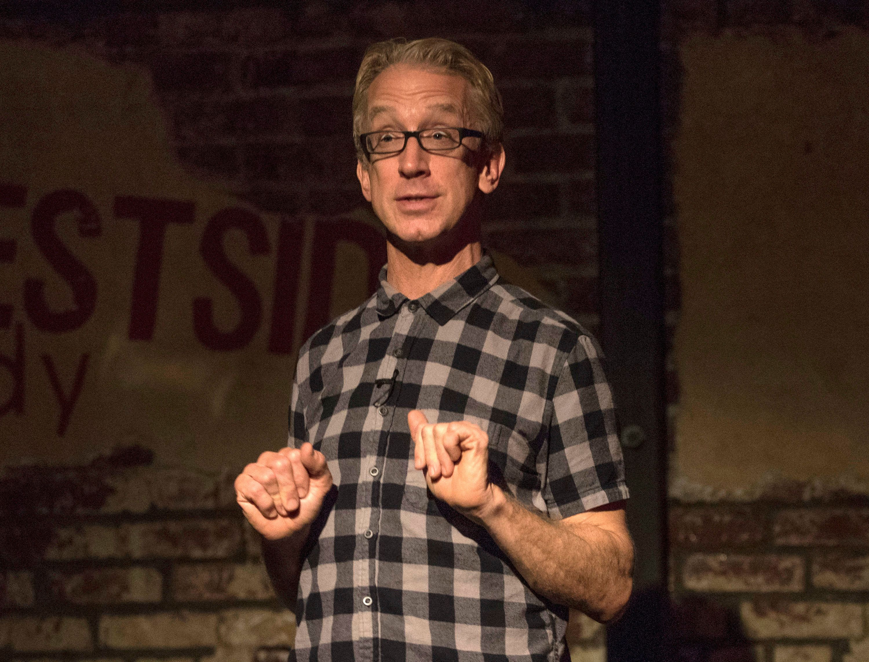 SANTA MONICA, CA - JANUARY 27:  Andy Dick performs at Fun With Dick on January 27, 2016 in Santa Monica, California.  (Photo by Michael Bezjian/WireImage)