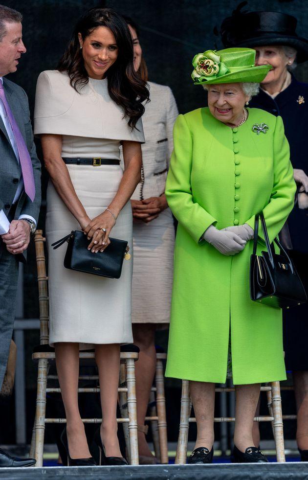 Meghan Markle und Queen Elizabeth II. beim ersten gemeinsamen