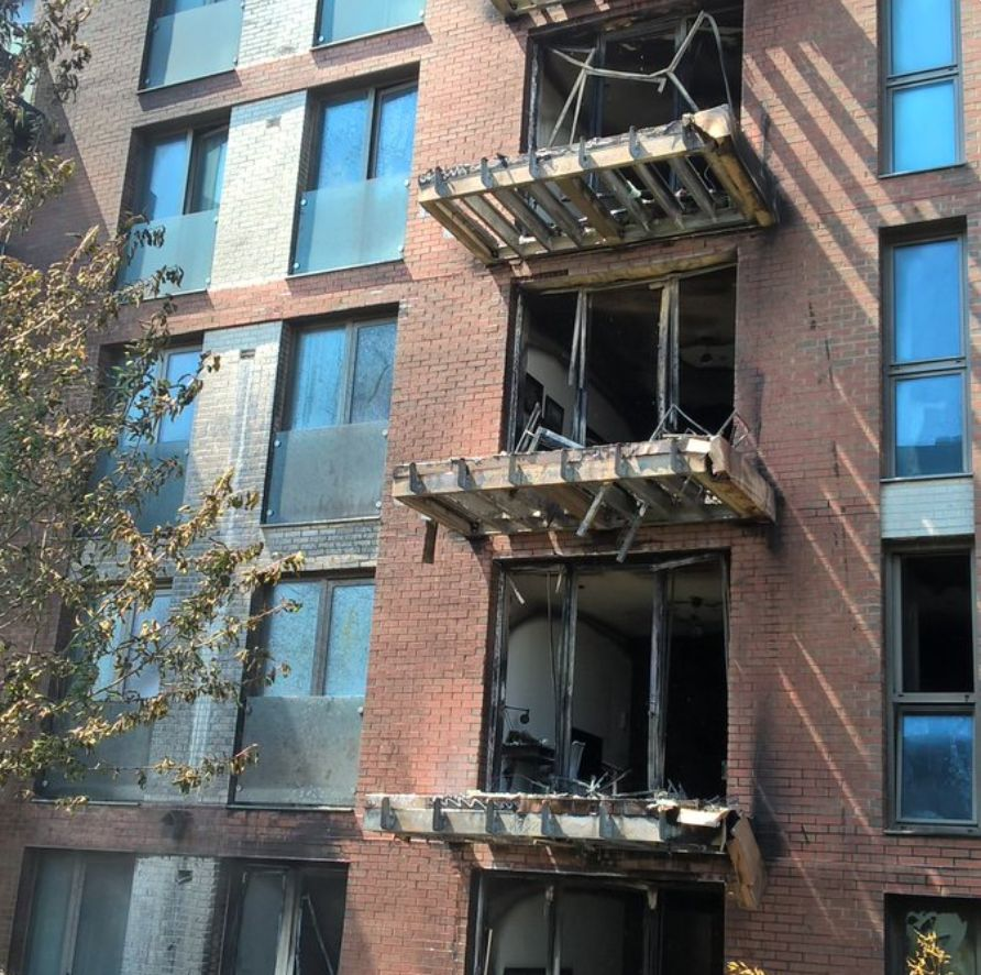Block Of Flats On Fire In West Hampstead,
