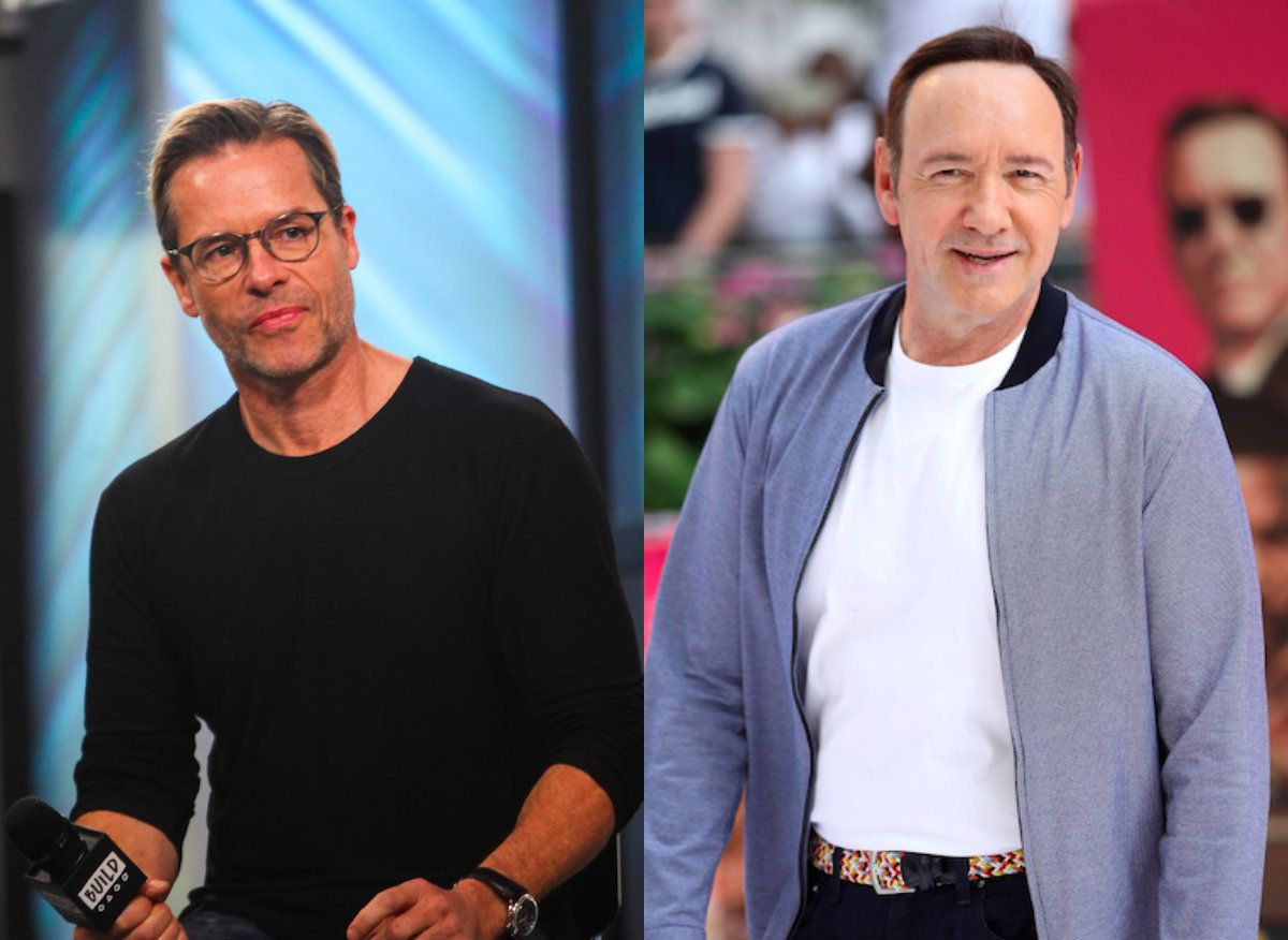 Guy Pearce (L) and Kevin Spacey (R).