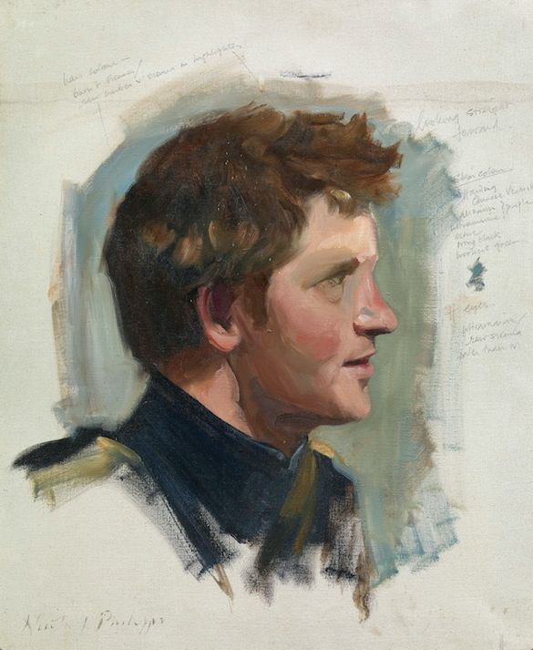 The preliminary sketch of Prince Harry.
