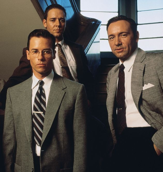 Guy Pearce (front) with Kevin Spacey (right) in 'LA